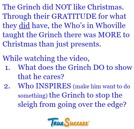 Gratitude Lesson 13 video text